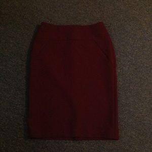 Ann Taylor Maroon Pencil Skirt 4